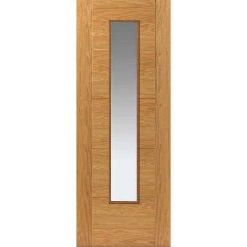 River Oak Modern Emral 1L Glazed Internal Door