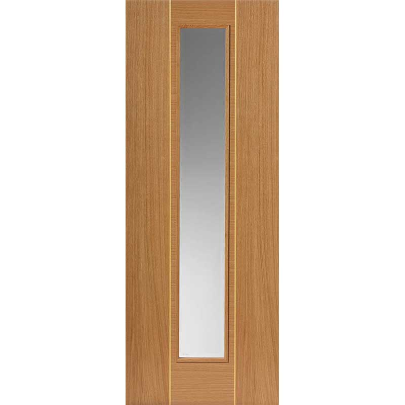 Roma Juno Oak Glazed Internal Door