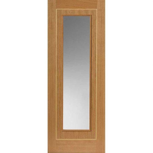 Roma Minerva Glazed Oak Internal Door