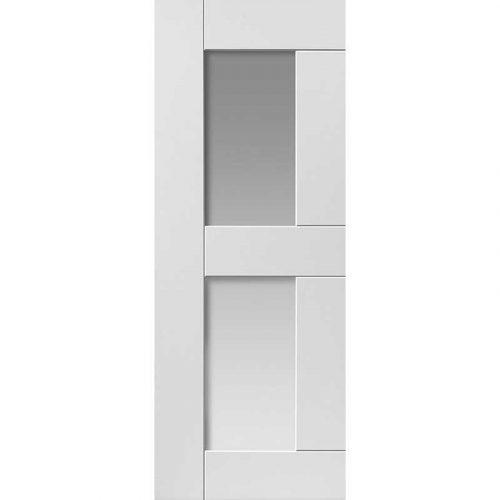 Symmetry Eccentro Glazed Internal White Primed Door