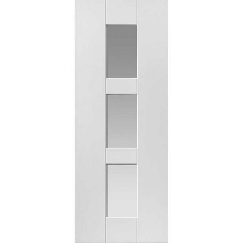 Symmetry Geo Glazed Internal White Primed Door