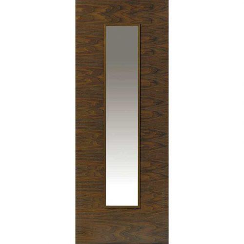 Walnut Flush Franquette Glazed Internal Door