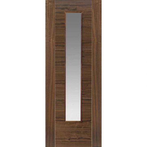 Walnut Flush Mistral Glazed Internal Door