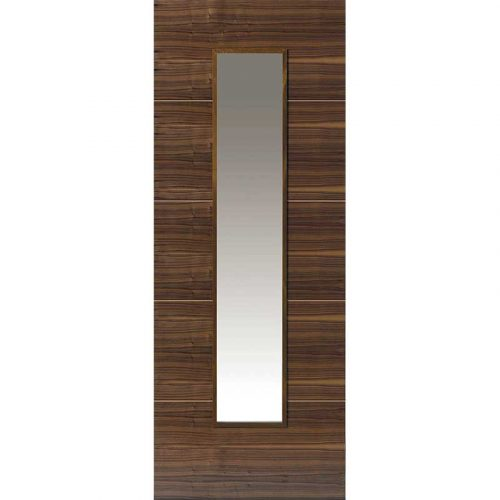 Walnut Flush Parisienne Glazed Internal Door