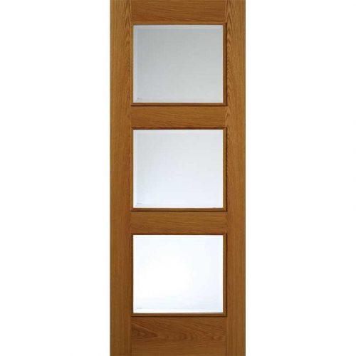 Royale Modern R-03-3V Oak Glazed Door