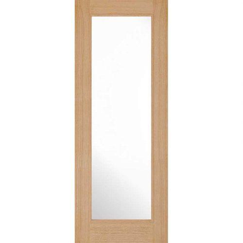 Internal Pre Finished Oak Diez 1 Light Glazed Door New 2019