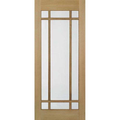 Lyon Oak Glazed Internal Door Pre Finished