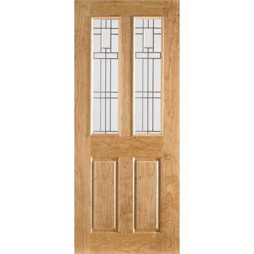 2P/2L Cherry Moulded Internal Glazed Door