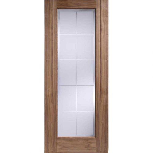 Seville Walnut Glazed Internal Door