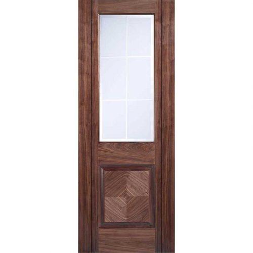 Valencia Walnut Internal Glazed Door