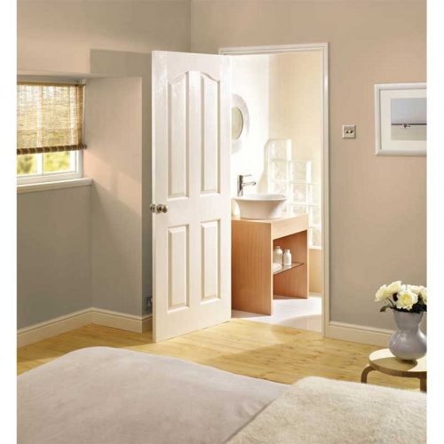 White Moulded Mayfair 4P internal Door